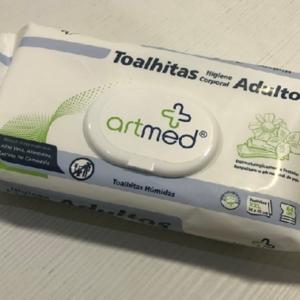 Audaz Ajuda Artmed Toalhetes húmidos higienização, 30x20cm (64un)