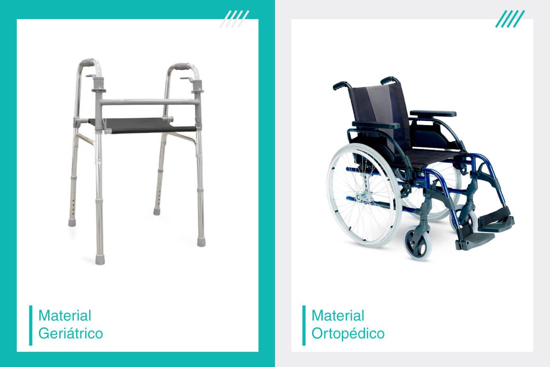 audaz ajuda diferença entre material ortopédico e geriátrico